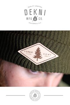 e1bc6f35 600 - Bulk Custom Cuff Beanie. Custom Leather Patch Beanie by Dekni  Creations ...