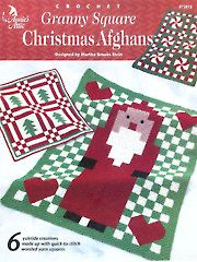 Crochet - Granny Square Christmas Afghans - #A872815