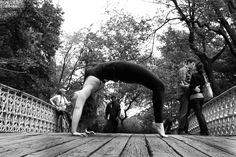 Backbends in Central Park! via @Robert Sturman!