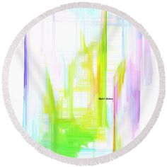 Round Beach Towel - Abstract 9615