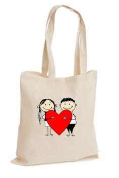 Kalpli Aşıklar – Sevgiliye Hediye Bez Çanta - Şu An Sadece 14,90 TL! Online Siparişe Özel Tasarımlar, Mağazalarda Yok! - Kapıda Ödeme - Süper Baskı ve Penye Kalitesi