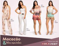 Macacão e Macaquinho Coleção Verão 2017 MiraVest #miravest #fashion #moda #modafeminina #estilo #lookdodia #style #tendência #tendências #beleza #roupas #look #fashionismo #mulheres #estilosas #garotasfashion #mulheresfashion #lifestyle #outfit #love #mode