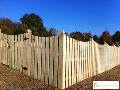 Scalloped Semi-Privacy Fence
