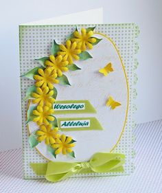 Kreatywna kraina u Miśkowej: Wielkanoc Diy And Crafts, Paper Crafts, Quilling Cards, Easter Treats, Diy Cards, Making Ideas, Paper Flowers, Gift Tags, Paper Art
