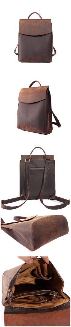 Leather Backpack Travel Backpack Messenger Bag Woman Backpack