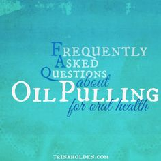 Answers about oil pulling from a gal who's been doing it for over a year and healed cavaties!(Hint: it's about more than just oil pulling) Heal Cavities, How To Prevent Cavities, Oral Health, Health And Wellness, Health Tips, Holistic Medicine, Natural Medicine, Natural Cures, Natural Healing