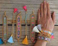 OOAK armcandy SET: 3 beaded bracelets in beautiful por BonkIbiza