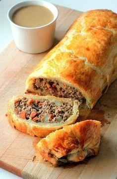 Pastel Wellington con Carne picada. #carne #recetas