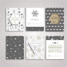 En güzel dekorasyon paylaşımları için Kadinika.com #kadinika #dekorasyon #decoration #woman #women free vector Christmas & Happy new year gift cards