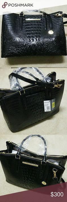 Brahmin  Satchel Black Leather brahmin lincoln satchel black Melbourne genuine leather Brahmin Bags Satchels