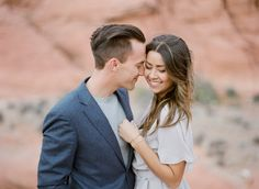 A windy anniversary session in Red Rock Canyon