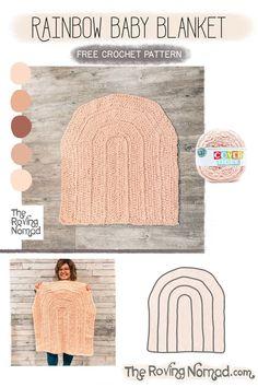 Rainbow Baby Blanket - Crochet Pattern - The Roving Nomad