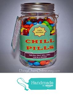 Chill Pill - The Best Gag Gift - Funny Gift for Boyfriend Girlfriend, Gift for Men, Women, Friends Birthday Gift, Christmas Gift, Chill Pill from Daisy Chain Online http://www.amazon.com/dp/B016M0CIW4/ref=hnd_sw_r_pi_dp_12yCwb0Y6F5ZS #handmadeatamazon