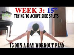 WEEK 02 How to do the splits, for beginners - YouTube