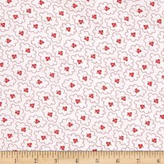 Designed by Darlene Zimmerman for Kaufman Fabrics, this extra wide cotton print fabric is perfect for quilt backing, bedding, window treatments, apparel and more. Colors include red and white.