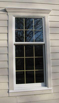 exterior window trim- I really like the top trim