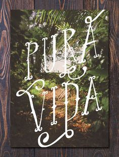 "Pura vida is a characteristic Costa Rican phrase. It literally means pure life, however, the real meaning is closer to ""plenty of life"", ""full of life"", ""this is living!"", ""going great"", or ""real living"". / Art Print, now available in our Etsy shop! :)"