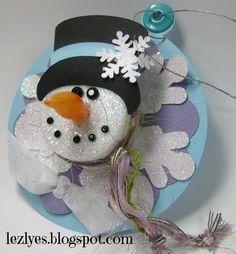 Tea Light Snowman from Cricut with Heart.  How cute is he?