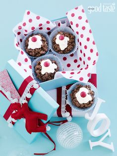 Kids will love making these chocky puddings to give to friends - or to leave out for Santa ~ recipe Michelle Southan ~ pic Mark O'Meara