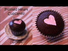 ▶ 2 in 1: How to Make Heart Frosted Cupcakes! - Also includes a cute clay version! YouTube