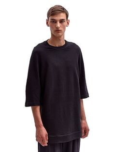 Damir Doma Men's Oversized Cotton Trienta Short-Sleeved Sweatshirt