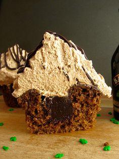 Mocha Cupcakes with Baileys Irish Cream ganache and Baileys Irish Cream whipped cream by Beyond Frosting, via Flickr