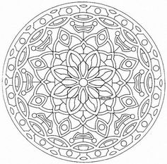 Free Large Mandala Coloring Pages | Back to Coloring pages special mandala…