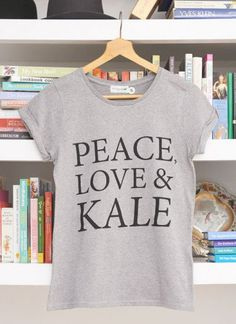 Pin for Later: Love Kale? There's an Outfit For That (and a National Day!)  Deliciously Ella Peace, Love & Kale T-shirt (£20)