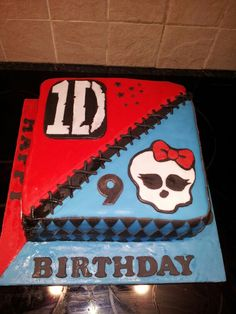Monster high/one direction cake