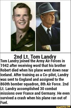 Rip Tom Landry Thank you not just for being our coach but most importantly serving our country! Dallas Cowboys Baby, Dallas Cowboys Football, Football Coaches, Tom Landry, Cowboys Players, How Bout Them Cowboys, Sports Stars, Ww2 Facts, History