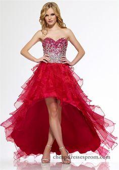 Fuchsia Silver Ruffled High Low Prom Dresses R9714 Sale