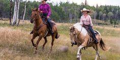 Horseback riding in British Columbia, Canada. #HorsebackRiding #RanchVacation