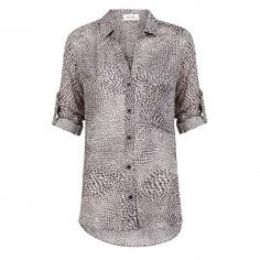 Shirt Tail Button Down Truffle  | Bella Dahl | OU. Boutique | 9straatjesonline.com