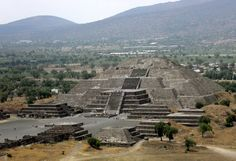 Little pyramids of the Plaza de la Luna, Teotihuacán, Mexico — climbed to top on narrow steep stairs, no handrails - dizzying, exhilarating, historical, mystical experience.