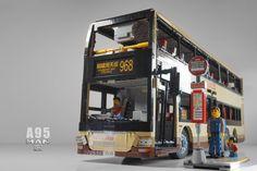 [MOC] Fully RC MAN A95 double decker bus - Hong Kong KMB by shineyu Lego Bus, Lego Truck, Lego Vehicles, Lego For Kids, Double Decker Bus, Lego Technic, Bus Stop, Lego City, Public Transport