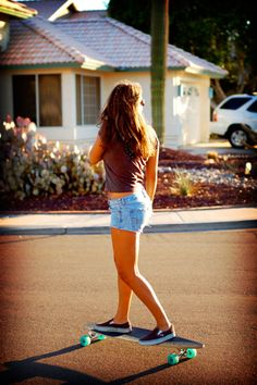 Off the wall. Longboard girls are always hotties. Even if they uggos