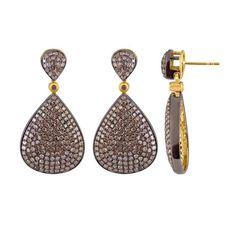 4.27 ct Natural Pave Rose Cut #Diamond 925 Sterling #Silver Fashion Dangle Earrings  Rose Cut Diamond  Rose Cut Diamond Ctw : 4.27 ct  Rose Cut Diamond Clarity : I1-I2  Rose ... #diamondearring #earring #rosecut #silver #gemstone #stone #amethyst #quartz #red #green #yellow #blue #vintage #victorian ➡️ http://jto.li/ZZVeE