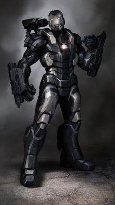 東尼史塔克 鋼鐵人 Tony Stark: 《鋼鐵人3》裝甲美術設定圖 Iron Man 3 Armor Concepts