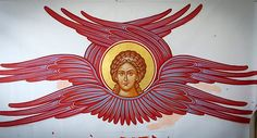 Face of the Seraphim. Byzantine Art, Byzantine Icons, Angel Hierarchy, Church Icon, Creativity Exercises, Christian Symbols, Angel Pictures, Religious Icons, Angels And Demons