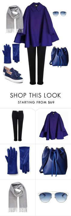 """""""too blue"""" by yuri-writer on Polyvore featuring Current/Elliott, Acne Studios, Lands' End, Gabriella Rocha, Vivienne Westwood, Christian Dior and J/Slides"""