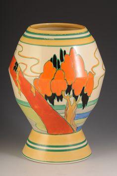 Andrew Muir | Clarice Cliff, Art Deco Pottery, Moorcroft and 20th Century Ceramics Dealerclarice cliff SOLITUDE 365 VASE C.1932