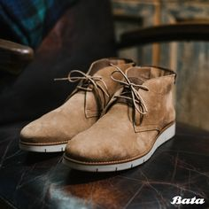 Tan suede loafers are for stylish men only! Bata Shoes, Men's Shoes, Shoes Sneakers, Suede Loafers, Stylish Men, Shoe Collection, Moccasins, Boots, Fashion