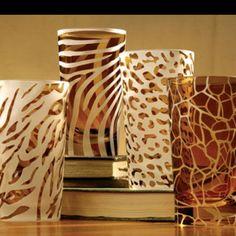 Animal print highball glasses!