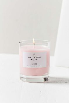 Gourmand Candle in Macaron Rose, a beautiful millennial pink colour. Rose Candle, Candle Jars, Candle Shop, Bougie Candle, Candle Gifts, Candle Holders, Macarons Rose, Roses Tumblr, Bougie Rose