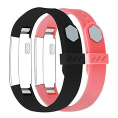 Fitbit Alta Bands, Marge Plus Fitbit Alta Classic Accessory Replacement Bands Wristband Sport Band with Metal Clasp for Fitbit Alta Fitness Tracker (Small/Black&Coral Pink). 18 MONTH WARRANTY: Yes, your heard right!Unconditionally refund or resend with any quality problems, life time friendly customer service, ONLY offered by Marge Plus store. MORE SECURE: Have Updated our Fitbit Alta Bands, go with Fastener Rings, will protect the clasp loose and fall off, make sure the band work well…