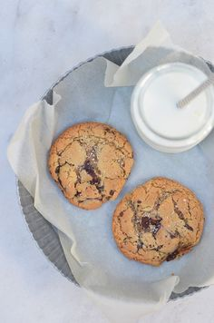 Ananás e Hortelã: Cookies com Pepitas de Chocolate