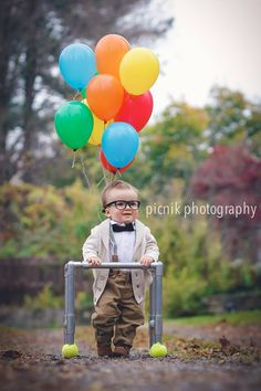 The old man from UP! The cutest Disney halloween costume EVER.