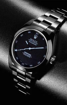"Bamford Watch Department Rolex ""Polaris"" and Sonar Milgauss - - Bamford Watch Department today unveiled two new striking custom Rolex Milgauss models: the. Elegant Watches, Stylish Watches, Luxury Watches For Men, Beautiful Watches, Cool Watches, Casual Watches, Cheap Watches, Modern Watches, Rolex Gmt"