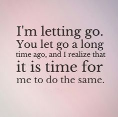 Let go for you