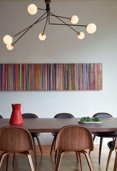 luminaire salle à manger, lampe extravagante dans la salle à manger contemporaine